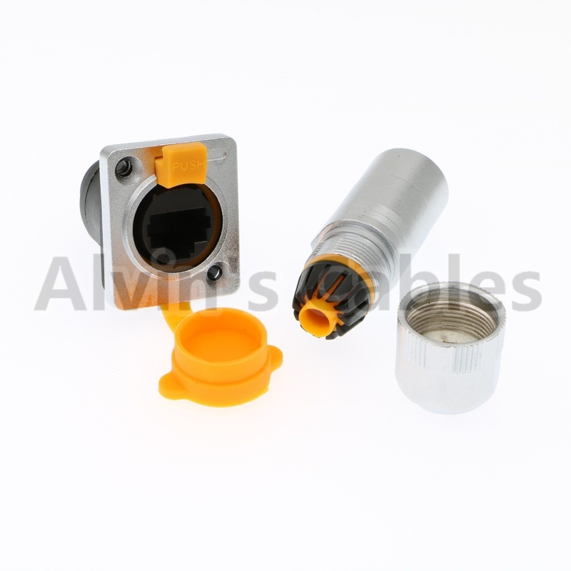 Metal Round Waterproof RJ45 Connector IP65 Environmentally Friendly Materials